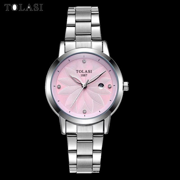 Fashion Quartz Women Watch Stainless Steel Clock Women's Watches Casual Date Relogio Feminino