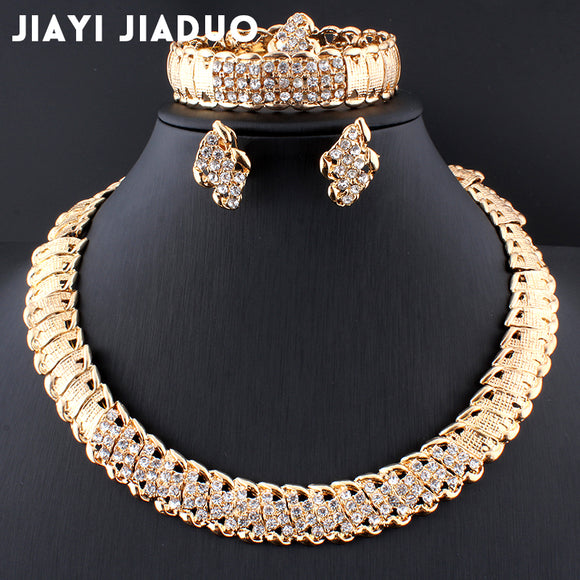 African Wedding Jewelry Dubai Gold color Jewelry Set