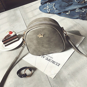 Handbag Phone Purse Women Small Bag Imperial Crown PU Leather Women Shoulder Bag Small Shell Crossbody Bag
