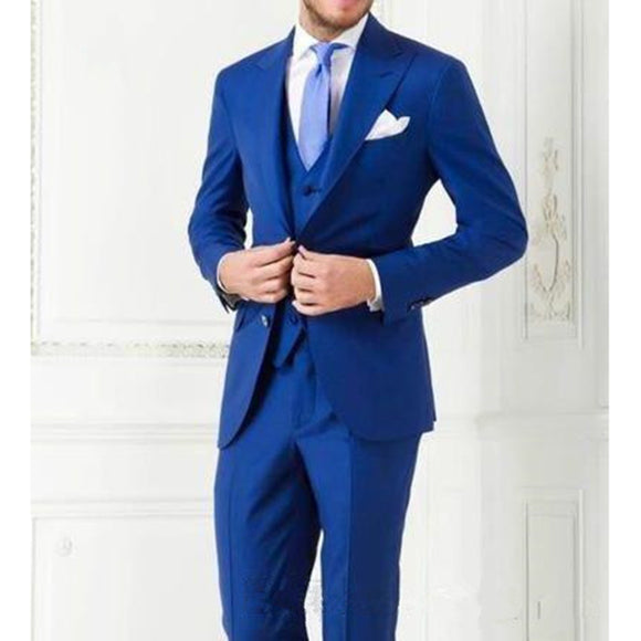 Costume Homme Business Mens Suits Wedding Suits For Men Ternos Masculinos Slim Fit Tuxedos(Jacket+Pants+Vest)