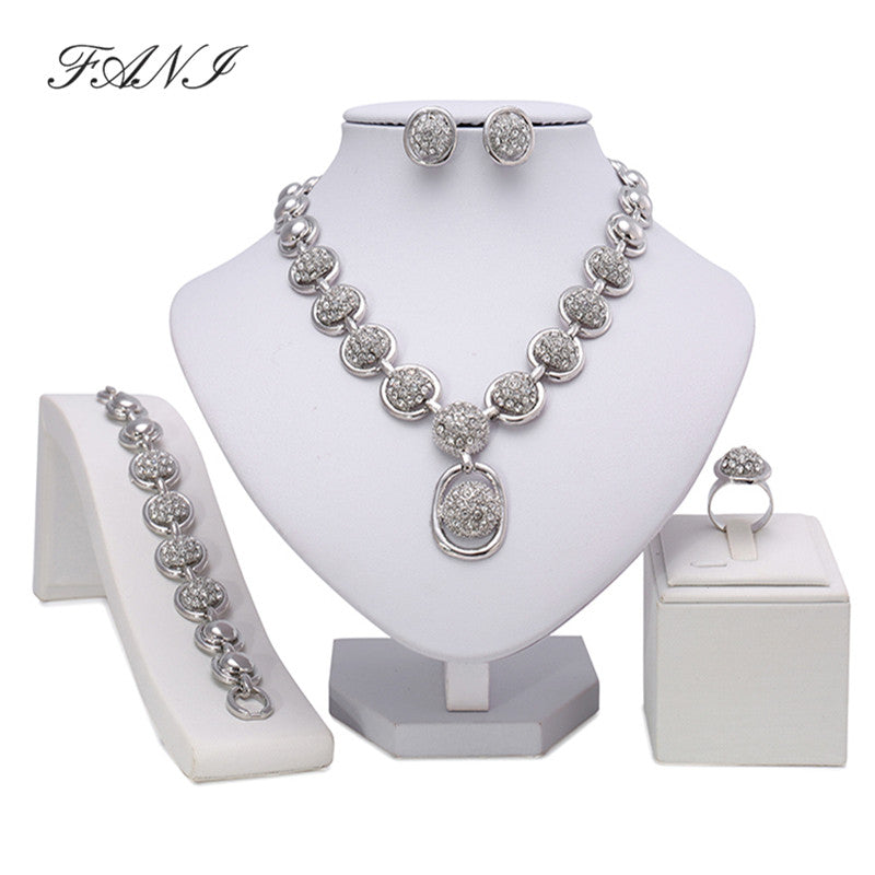 Woman Wedding African Beads Jewelry Set