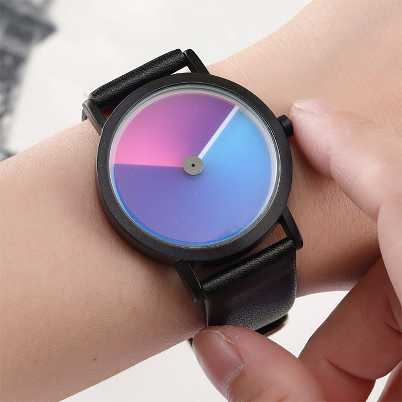 Simple Swirl Creative Watch New Fashion Minimalist Hodinky Wristwatch Men Women