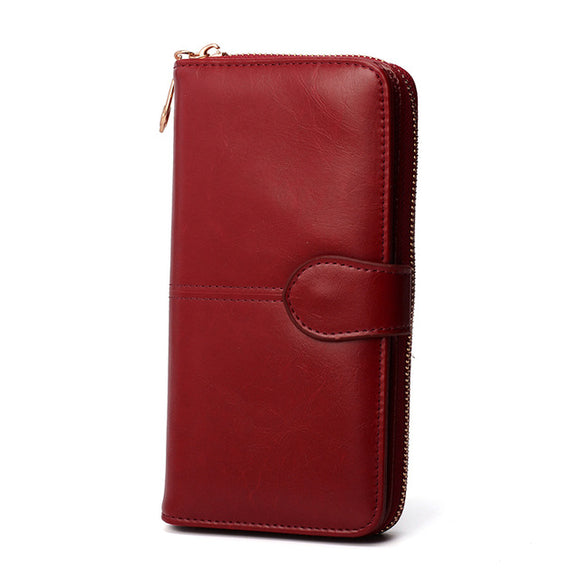 Wallet Female Purse Women Leather Wallet Long Trifold Coin Purse Card Holder Money Clutch