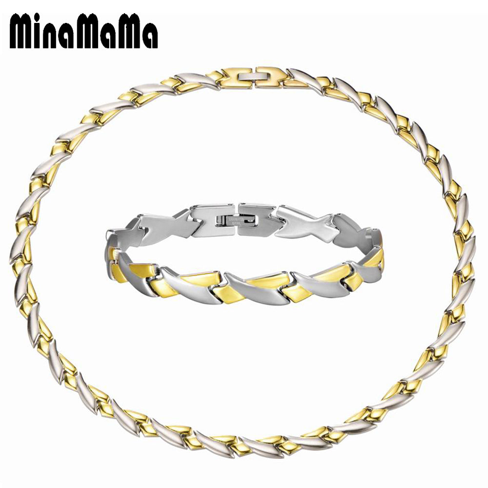Men's Jewelry Gold Color Personality Design Chunky Chains Stainless Steel