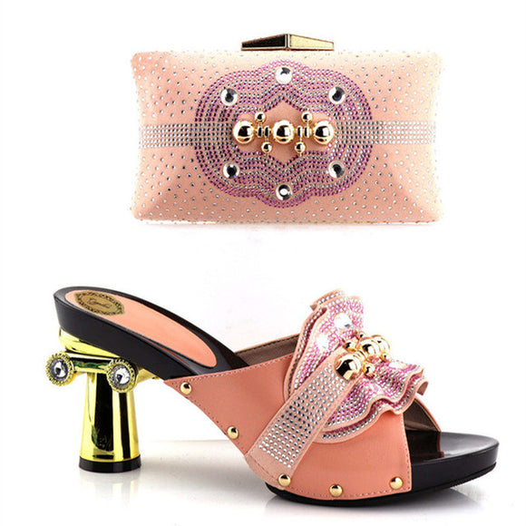 Capputine Latest Italian Woman Shoes And Bags To Match Shoes With Bag Set Bag