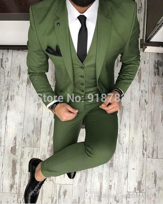 Costumes Mariage New Arrival 3 Pieces Set Suit Terno Masculino Slim Fit Men Suit With Pant