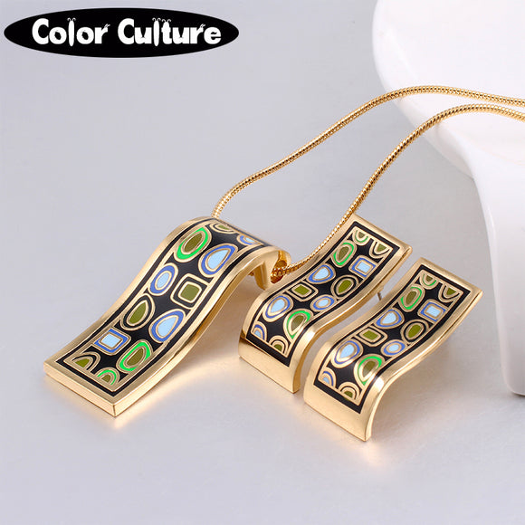New Arrival gold Jewelry Sets (Necklace, Earring)