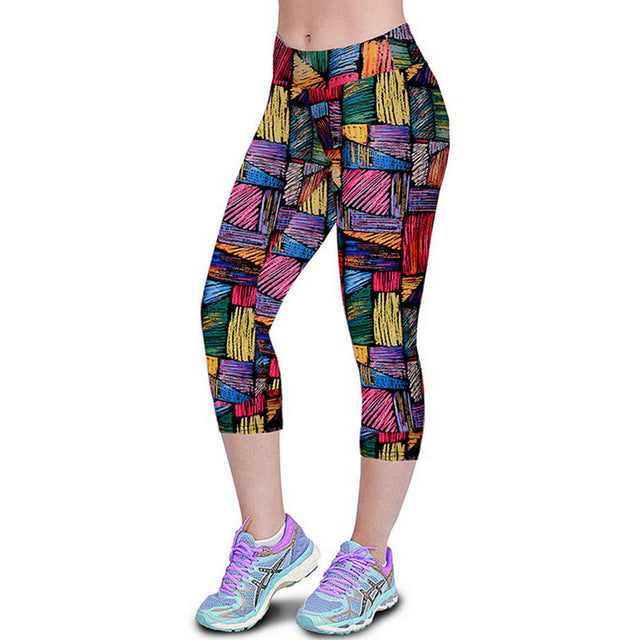 Women Print Summer Style Pants Capris Women Leggins