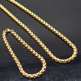 3mm Width 316L Stainless Steel For Women Men Fashion Chains Necklace Bracelet