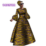 African dashiki rche dress for women Africa women long sleeves party dress plus size