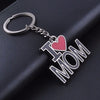 Mama Tag Engraved Family Pendant Keychain Red Black Mothers Day Key Chains