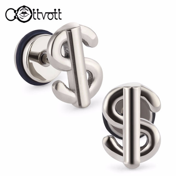 Trendy Dollar Sign Ear Plugs and Tunnels Earrings Cartilage Tragus Ear Piercing