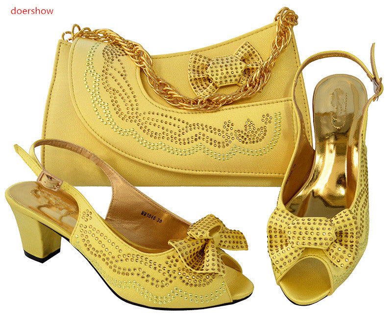 Shoes and Bag Sets Italian Shoes with Matching Bags High Quality Women Shoe and Bag To Match Party