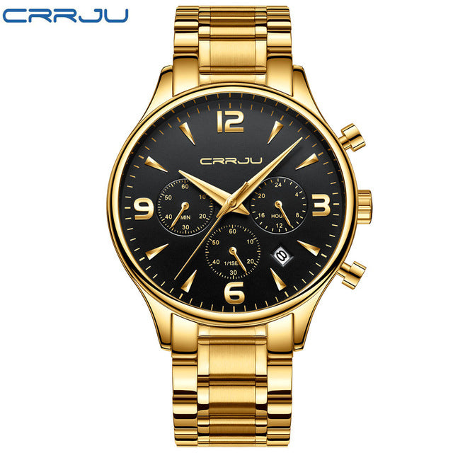 Chronograph Watches Men's Quartz Date Clock Waterproof Wrist Watch