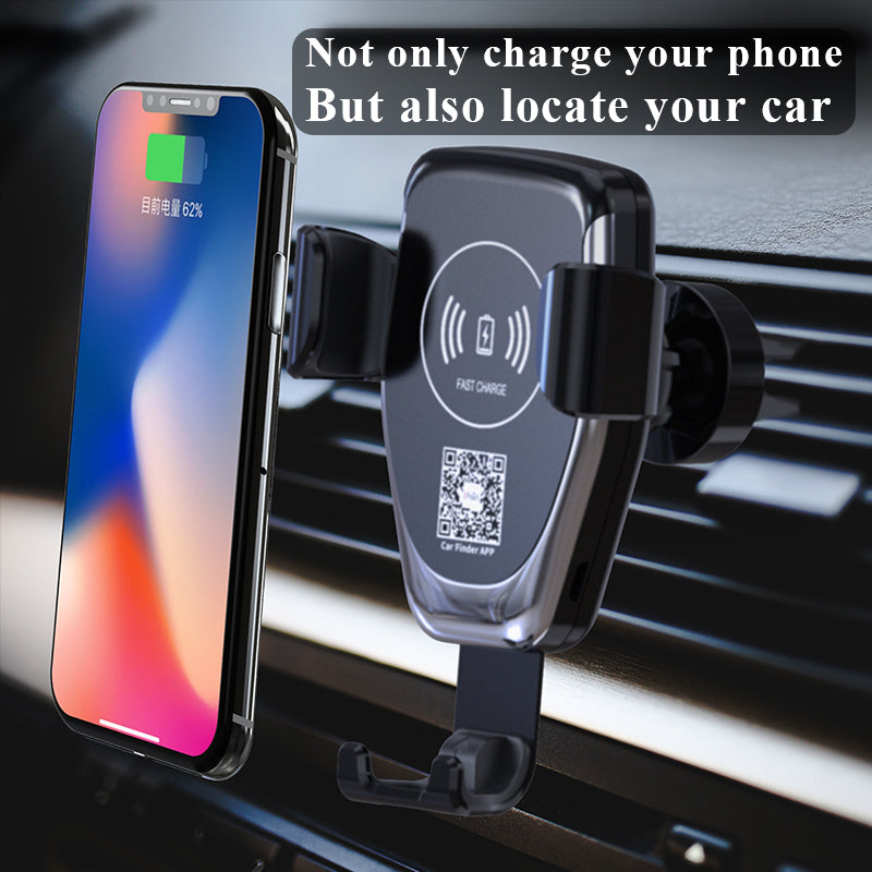 Car Mount Qi Wireless Charger For iPhone X/8 Visible Fast Wireless Charging For Samsung Galaxy S9/S9+ S8 Note 8