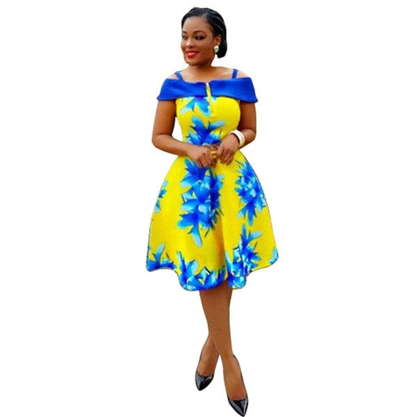 African Dresses For Women Rushed Top Fashion Polyester Digital Printing Milk Night Dress