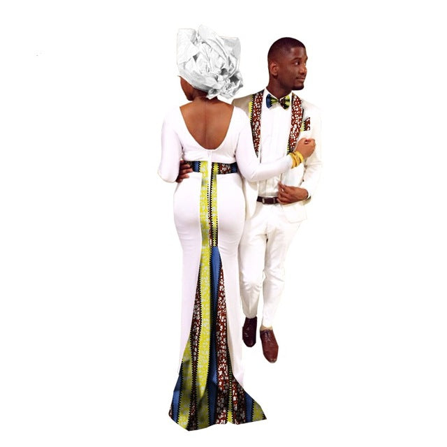 African Dresses For Women In African Clothing Africa Bazin Riche Couples Suits(women+men)