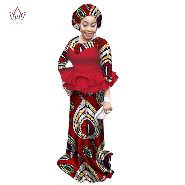 African dresses for women traditional natural set O-neck