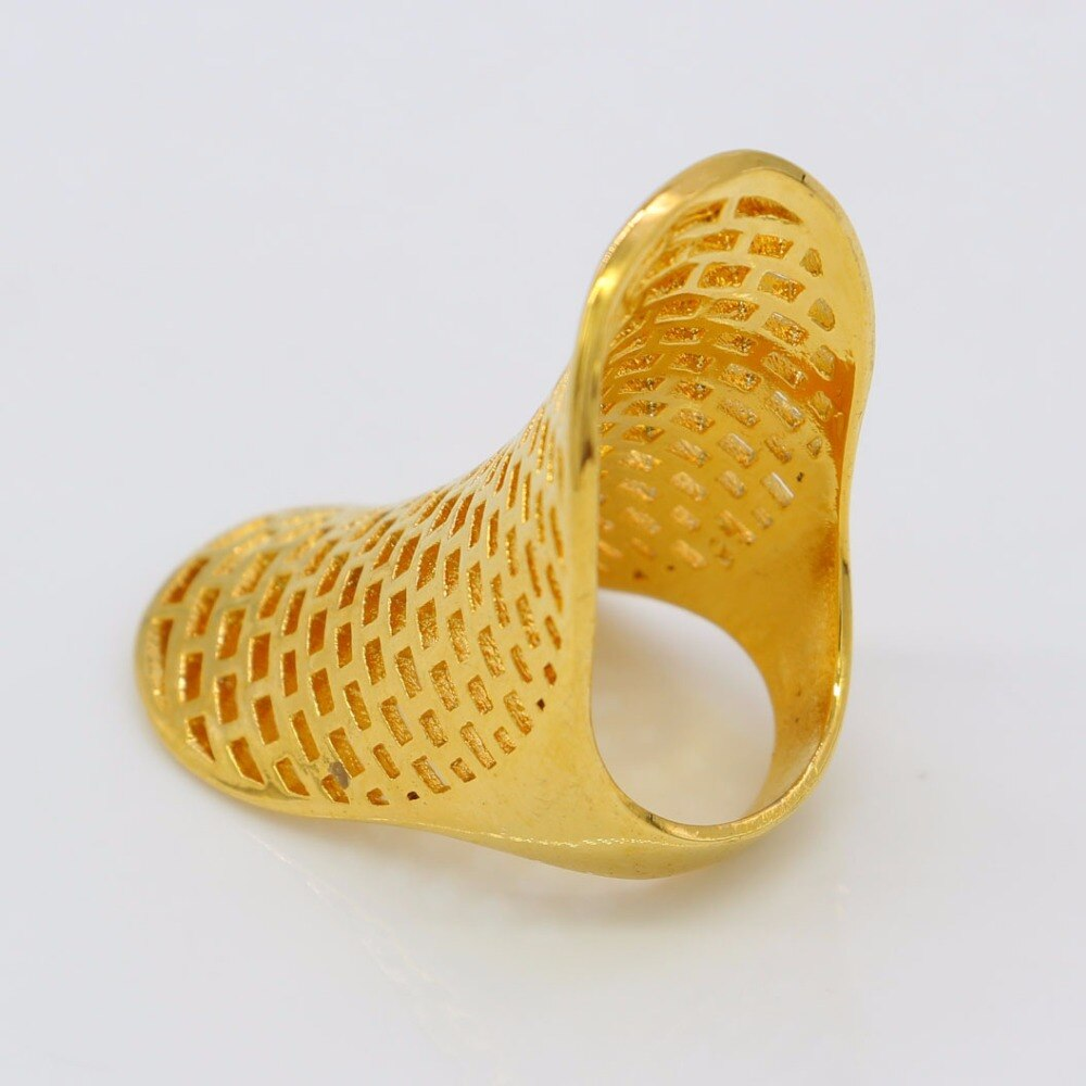 Adixyn Have Personality Ring for Women Men Gold Color Charm Party Jewelry African Arab Items N0257B