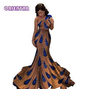 African dresses for women new african fashion 100% cotton material women party dresses african women long wedding dress