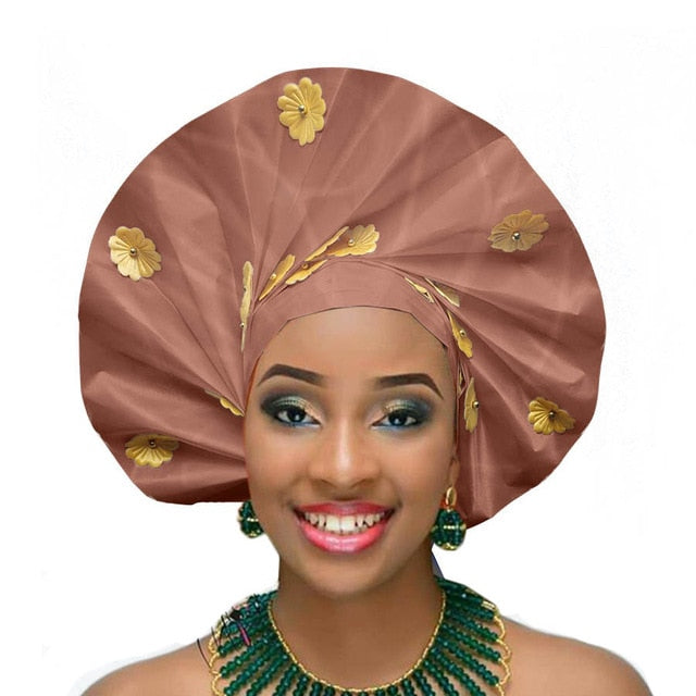 African sego headtie new turban aso oke gele fashion african headwraps