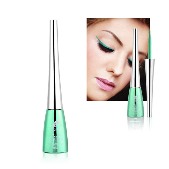 New Brand Colorful Eye Liner Makeup Cosmetics Waterproof Long Lasting Pigment Laser Blue Silver Liquid Make Up