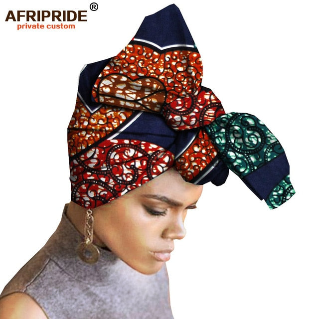 African Head Scarf print cotton high quality african traditional Bazin Rich Headwear