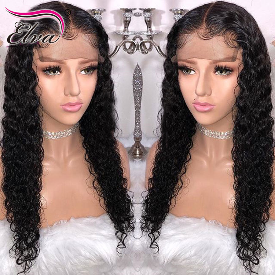 13x6 Curly Lace Front Human Hair Wigs Pre Plucked Hairline Brazilian Remy Hair Lace Wig Hair Natural Color