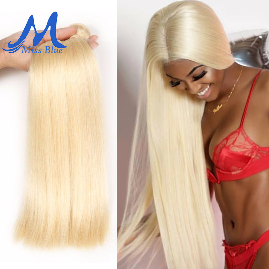 Peruvian Straight Hair 100% Blonde Human Hair Weave Bundles 613 Color Full 3 4 PC Remy Hair Extensions 28 30 32 34 Inch