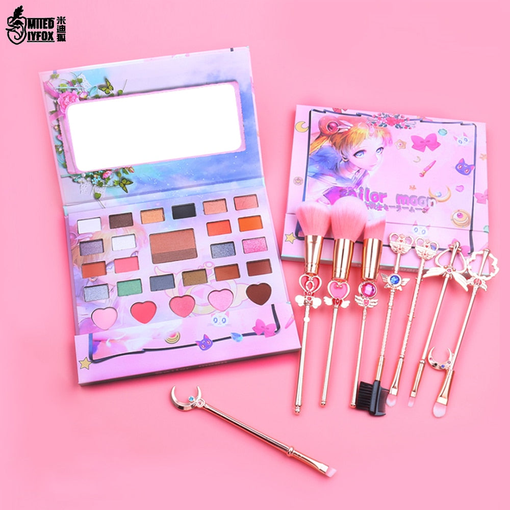 27Colors Cute Anime Sailor Moon Eyeshadow Pallete Lazy Eyeshadow Powder Professional Nature Make up Shining Eye Shadow