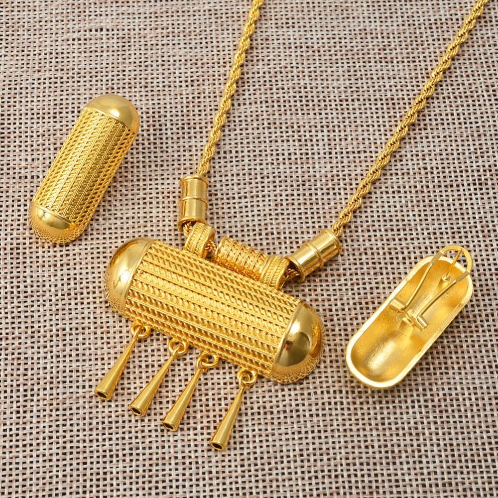 Jewelry Sets Necklaces Earrings Ring Gold Color