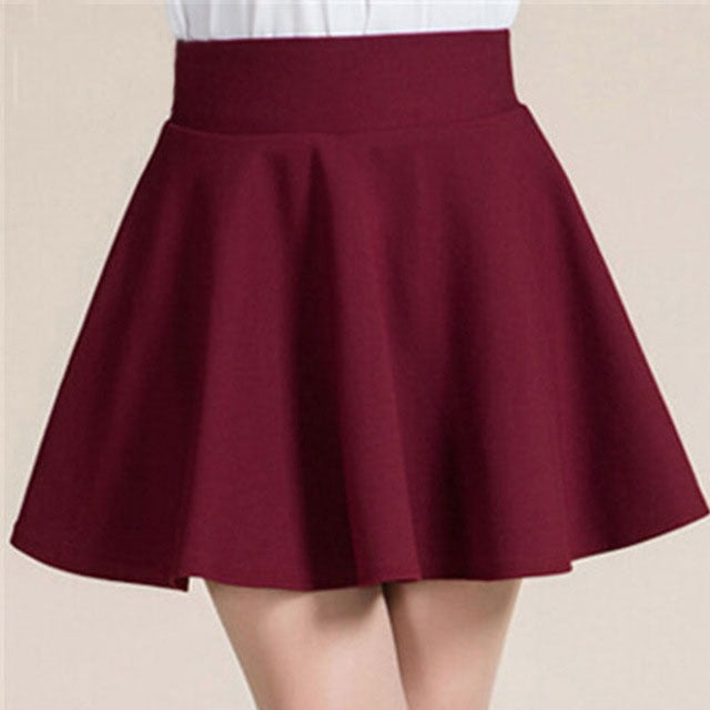 Girls Skirt Faldas Mujer Moda Winter Summer Style Elastic Faldas Ladies Midi Skirts