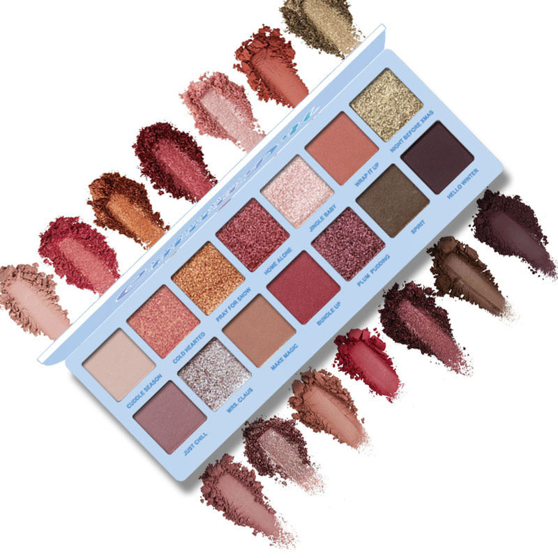 14 Color Nude Eyeshadow Palette Makeup Shimmer Matte Red Eye Shadow Cosmetics Palette