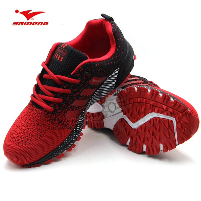 Men Sports Sneakers Shoes Breathable Men's Running Shoes Red Lightweight Sneakers Woman Comfortable Athletic Footwear