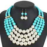 Women's Jewelry Set Euramerican Wedding Party Special Occasion Daily Resin Others 1 Necklace 1 Pair of Earrings - Bara Jan Store