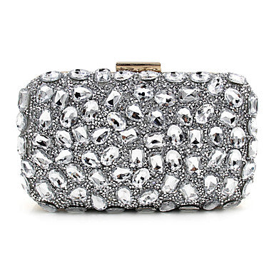 Women's Bags PU Polyester Evening Bag Sequin Crystal/ Rhinestone for Wedding Event/Party Formal Professioanl Use All Seasons - Bara Jan Store