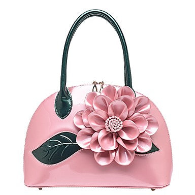 Women's Bags Patent Leather Tote Flower for Wedding Casual All Seasons - Bara Jan Store