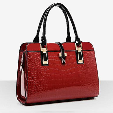Women's Bags Patent Leather Tote Shoulder Bag for Event/Party Shopping Casual Formal Office & Career All Seasons - Bara Jan Store