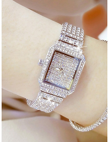 Women's Pave Watch Unique Creative Watch Fashion Watch Japanese Quartz Casual Watch Stainless Steel Band Charm - Bara Jan Store