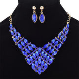 Women's Jewelry Set Crystal Rhinestone Casual Fashion Wedding Party Crystal Alloy Geometric Taper Shape 1 Necklace Earrings - Bara Jan Store