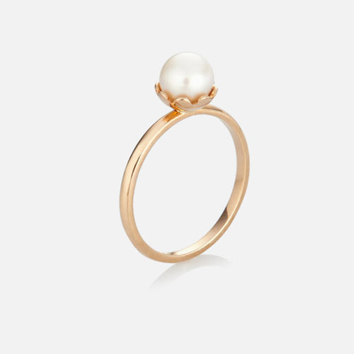 Blossom Cup Pearl Ring - BeaudellJewellery