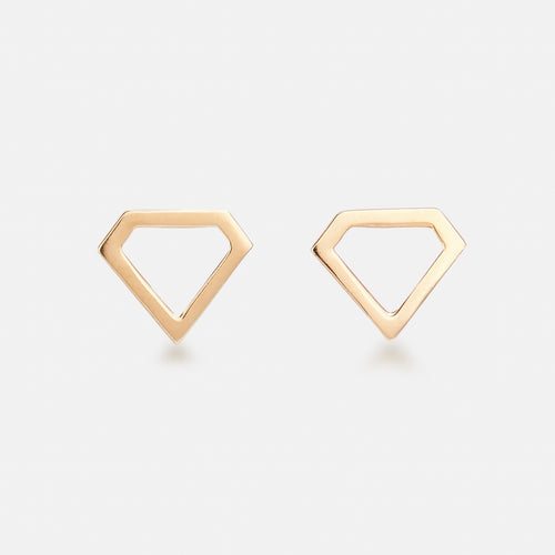 Diamond Shaped Studs - BeaudellJewellery