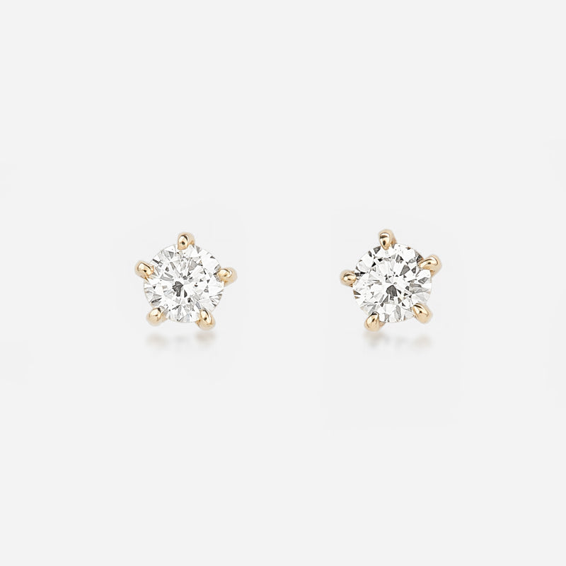 Round Baby Diamond Earrings - BeaudellJewellery