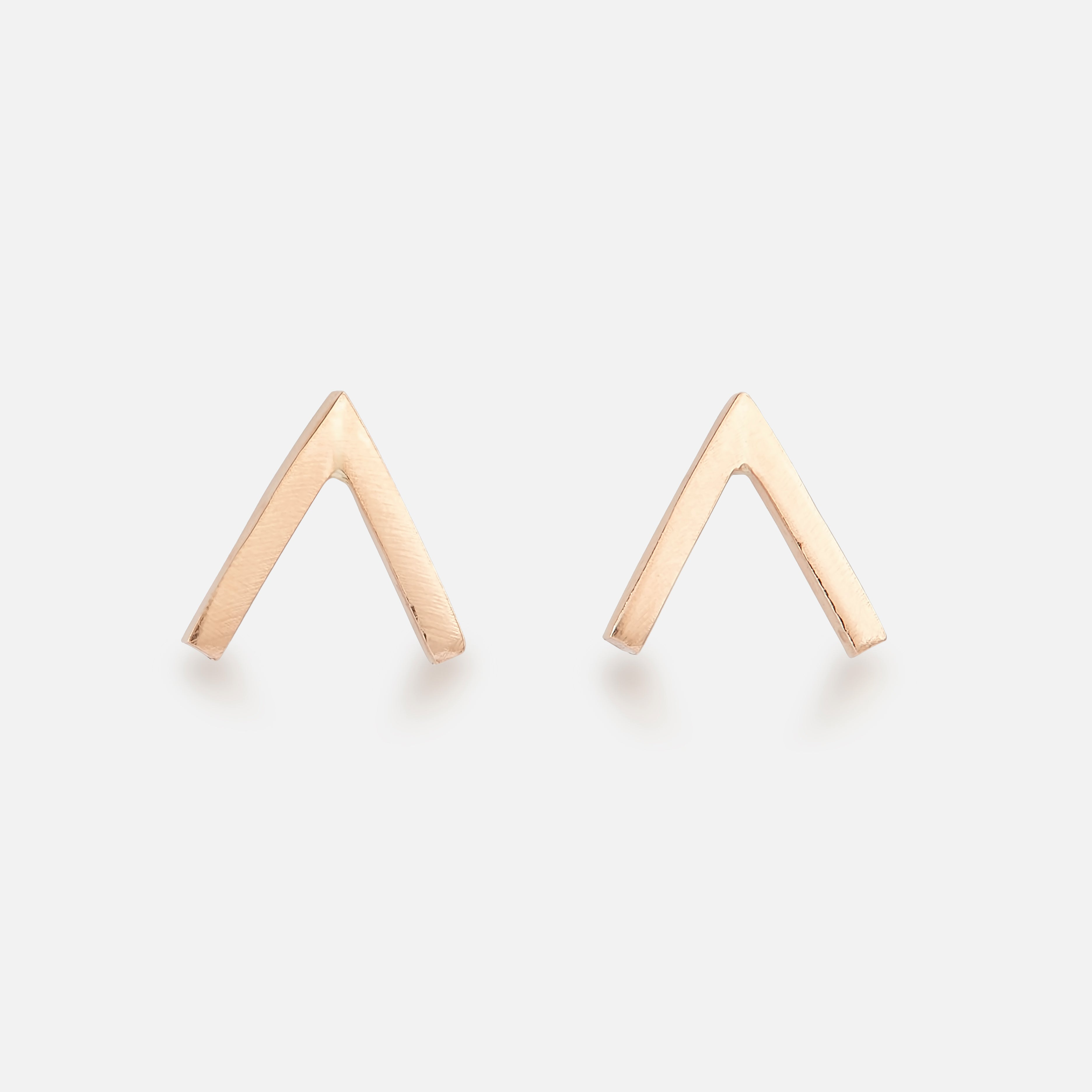 Open Triangle Studs - BeaudellJewellery