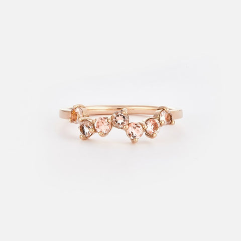 Poppy Pear | Light Pink Tilted Silver Ring