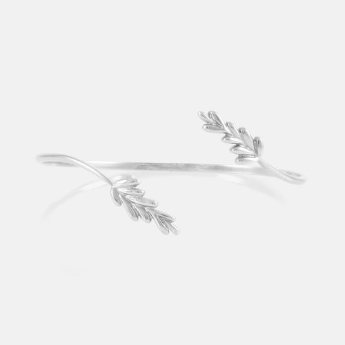 Leaf Motive Bangle - BeaudellJewellery