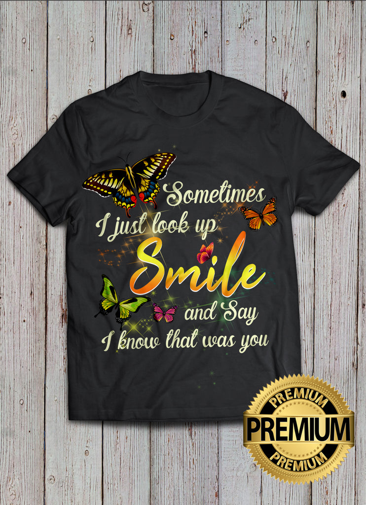 Smile And Butterfly T-shirt