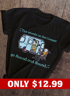 The Wheels On The Camper T-shirt