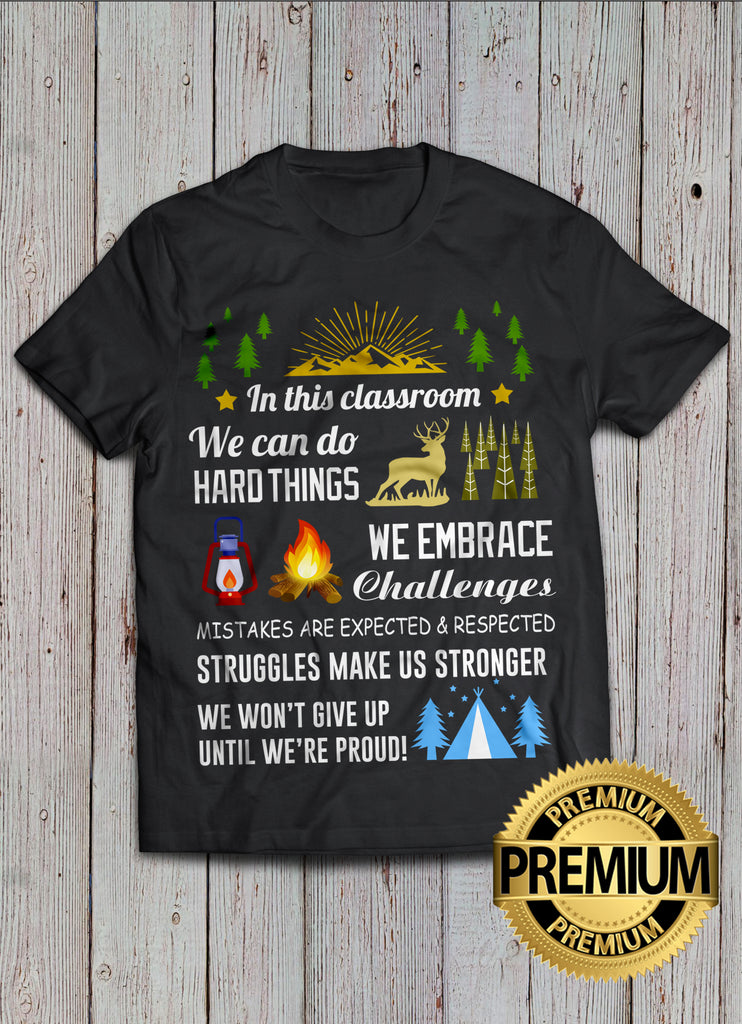 Challenges And Teacher T-shirt