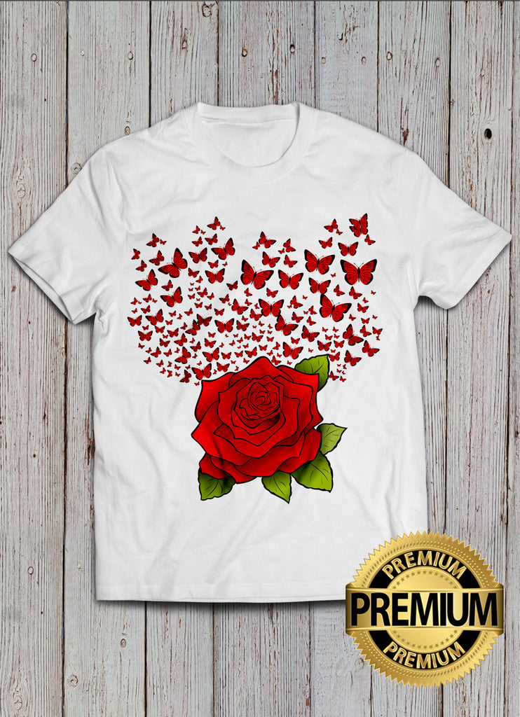 Rose And Butterfly T-shirt
